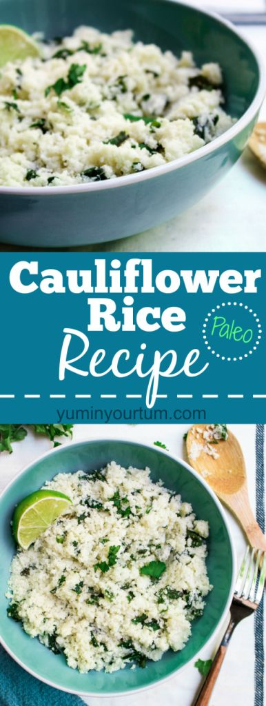 Cauliflower Rice Recipe- Vegan. Gluten Free. A perfect substitute for rice, & anyone on a low-carb or paleo diet. A delicious side dish ready in 10 minutes!