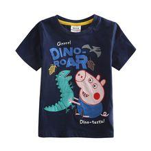 Estate del ragazzo della maglietta dei bambini del maiale del fumetto 100% cotone t shirt per ragazzi nova bambini t shirt per ragazzi style estate bambini vestiti(China (Mainland))