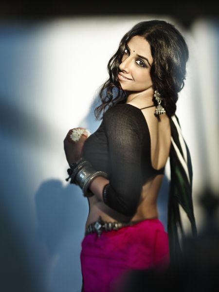 Shocking pink. #Vidya #Bollywood - blouses, victorian, elegant, wrap, white, ethnic blouse *ad
