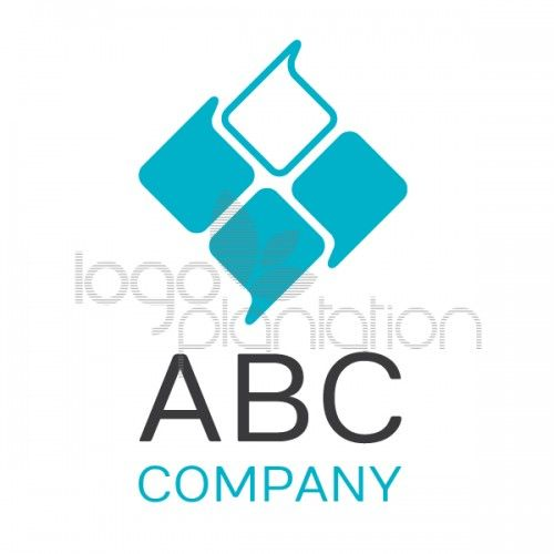 This logo is of a diamond shape made out of four speech bubbles. Located above the company name. The logo is supplied with Open Source Google Fonts. The file formats provided is EPS. See more at http://www.logoplantation.com/shop/four-speechbubbles/
