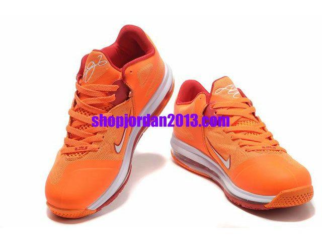 Nike Air Max LeBron 9 Low Shoes Orange/Red Lebron James Shoes 2013 #Orange