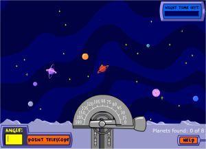 Telescope star gazing angles game