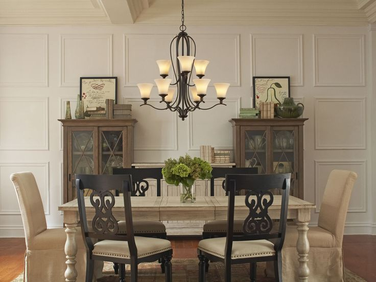 The Sophia Chandelier From Quoizel Makes A Smart And Stylish Statement In This Gorgeously Rustic Dining Room
