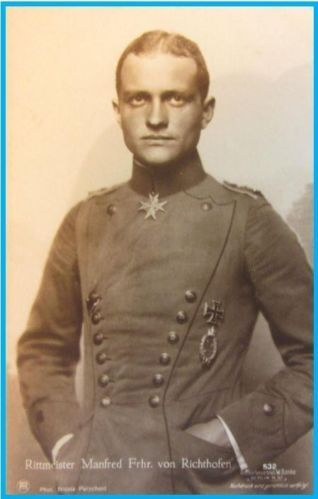 Rittmeister-Manfred-Freiherr-von-Richthofen-Sanke-Air-ACE-CARD-no-532-Rare. Not an unusual picture, but a very unusual person I think.