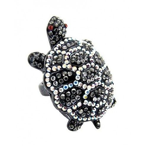 Butler & Wilson Swarovski Crystal Turtle Ring