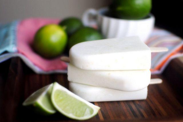 Simply Scratch » Coconut-Lime Yogurt Popsicles