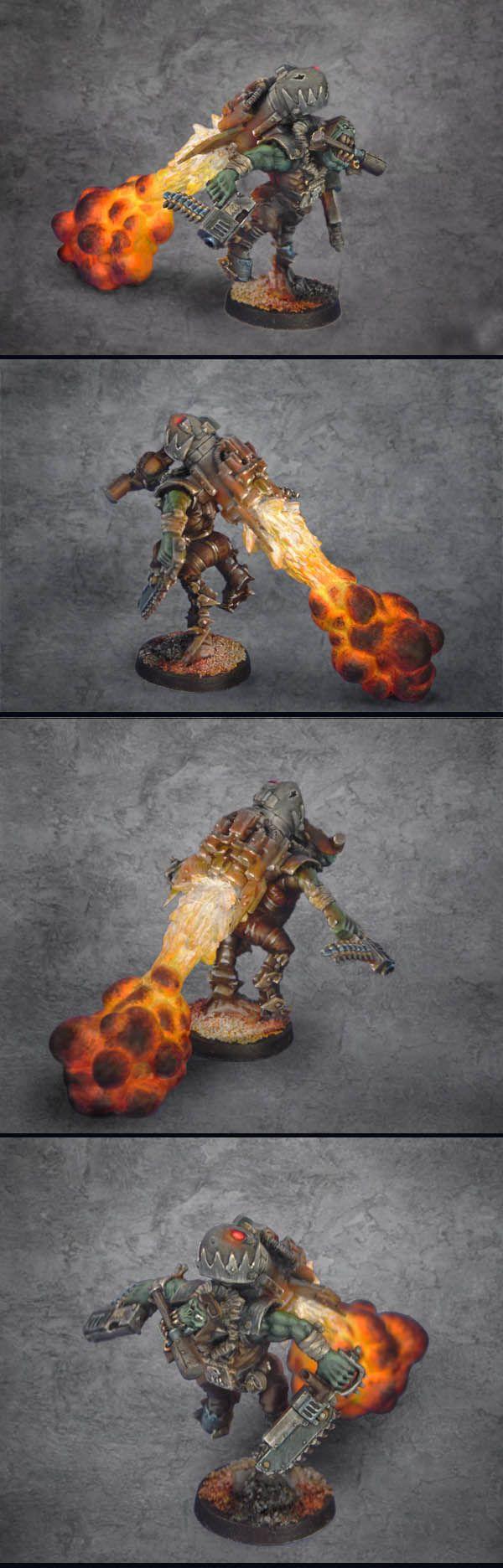 Ork Stormboy conversion, exhaust plume, Warhammer 40k.