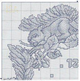 Cross Stitch Clock - Squirrels 1 of 4