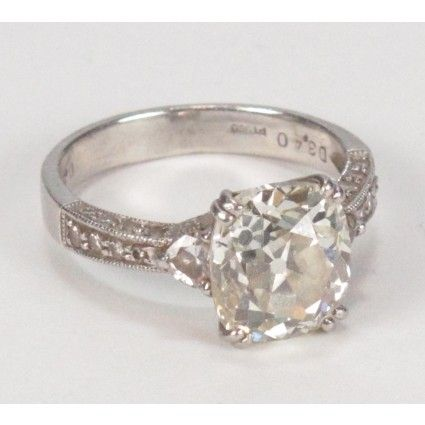 Cushion Cut Engagement Ring Vintage..PERFECT