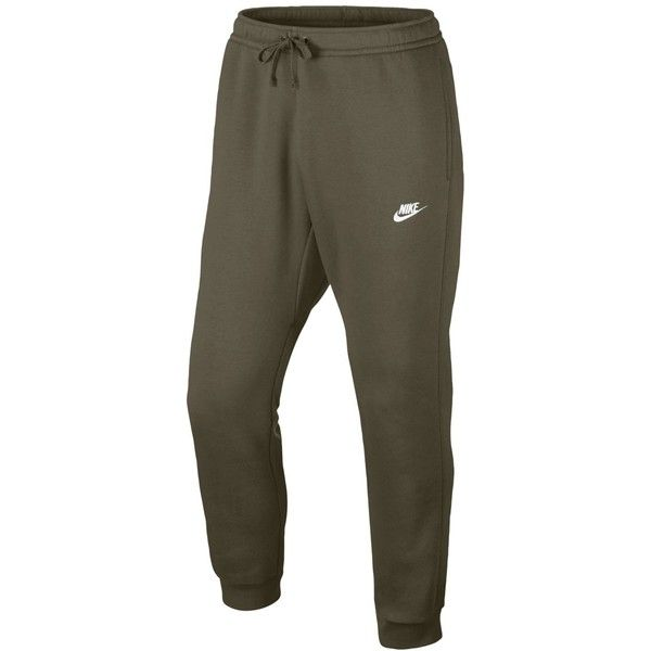 Nike Men's Fleece Jogger Pants ($43) ❤ liked on Polyvore featuring men's fashion, men's clothing, men's activewear, men's activewear pants, men, olive and mens activewear pants