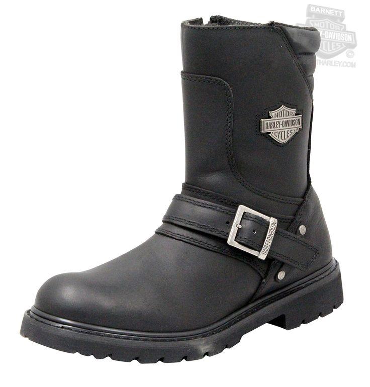 Harley-Davidson®   95194   Harley-Davidson® Mens Booker Black Mid Cut Riding Boot - H-D® Dealer Exclusive