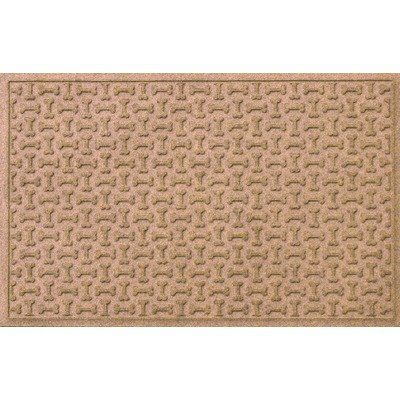 Aqua Shield Dog Treats Mat Size: 3' x 5', Color: Charcoal by Bungalow. $79.99. 20410540035 Size: 3' x 5', Color: Charcoal Features: -Surface material: Premium 24 oz. polypropylene.-Origin: USA.-Green friendly with over 20pct recycled rubber backing.-Low profile design allows most doors to glide easily over it.-Will not crush, fade, mold, mildew or rot.-Anti-static and flame resistant.-Suitable for multiple uses throughout your home, outdoor space, workplace or...