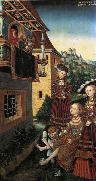 [ C ] Lucas Cranach the Elder (?) - King David and Bathsheba (1526) II