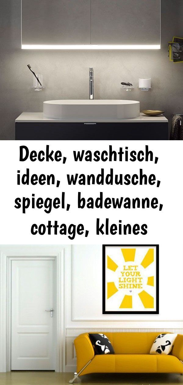 Decke Waschtisch Ideen Wanddusche Spiegel Badewanne Cottage