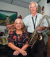 El gran maestro Paquito Palaviccini con su amada esposa.