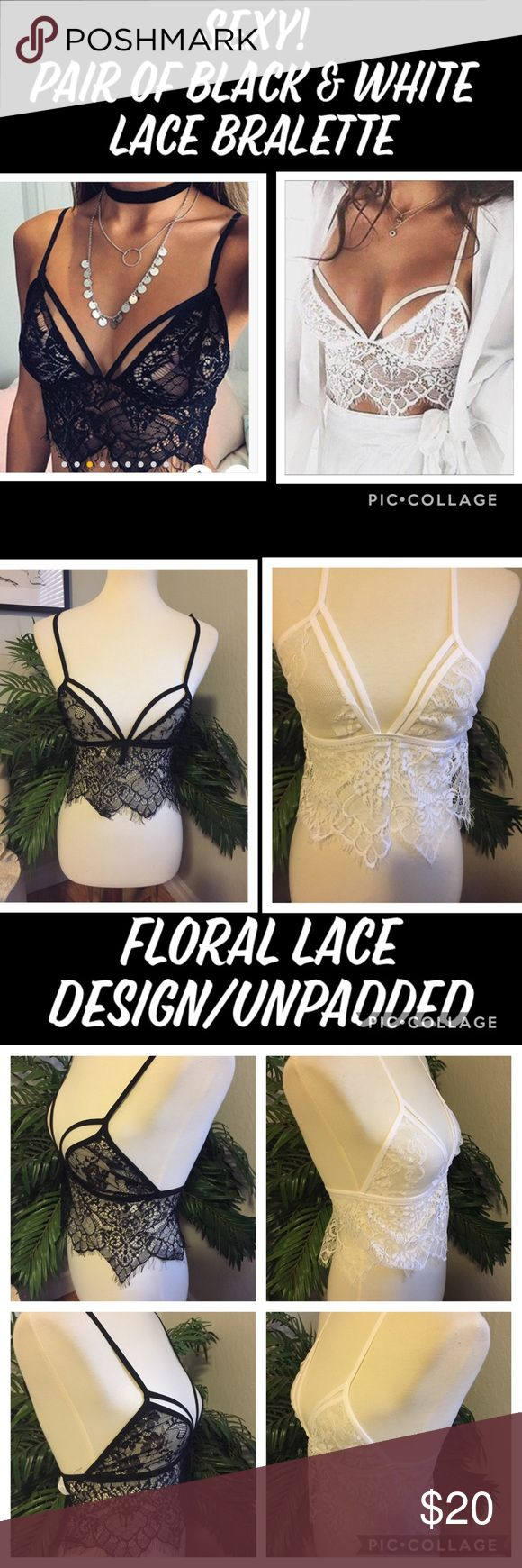 Feminine! Floral Lace Bralette M This is just too sexy! This floral lace unpadde…