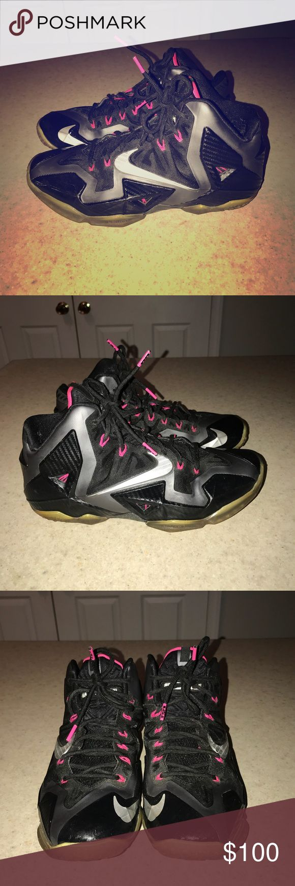 """Lebron 11 """"Miami Night"""" size 9.5 Men's Lebron 11 """"Miami night"""" size 9.5 used. Stain free smoke free. Nike Shoes Sneakers"""