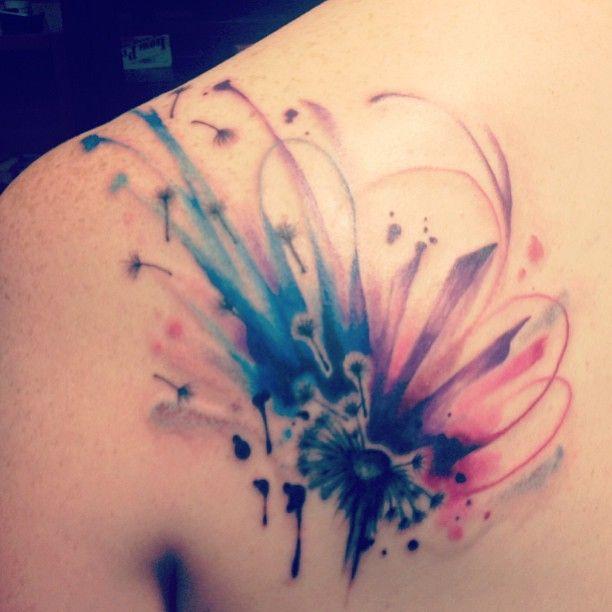 Finally, *MY* watercolor tattoo. I love it. By Shun Nakatsuru in San Francisco, CA: https://www.facebook.com/shun.nakatsuru