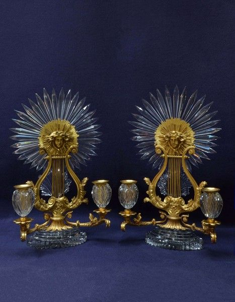 Someone in 1820 had the idea to create these gilt and cut glass candlesticks. Sadly, someone must have bought them. http://www.atmarr.com