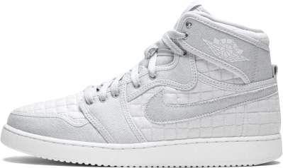 45f8bd78271 Nike Jordan Men s Jordan AJ1 KO High OG Pure Platinum White Mtllc Slvr  Basketball Shoe 10 Men US  mens