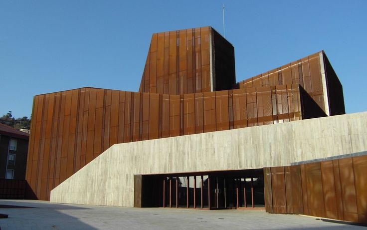 Oke ortuella perf expand corten acero steel facade fachada - Acero corten fachadas ...