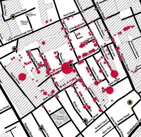 John Snow's cholera map of London recreated | Geography Education | Scoop.it