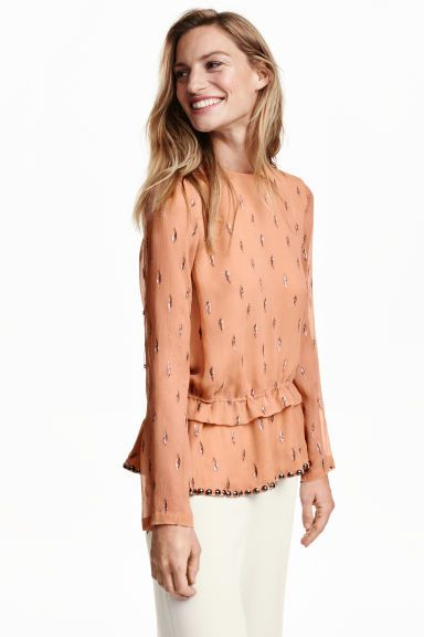 Блузка из шелкового шифона | H&M