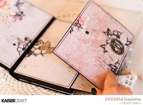 'PS. I Love You' Mini Album d) by Evgenia Krapivina Design Team for Kaisercraft using their 'P.S. I Love You' collection. saved from kaisercraft.com.au/blog/ - Wendy Schultz - Mini Albums.