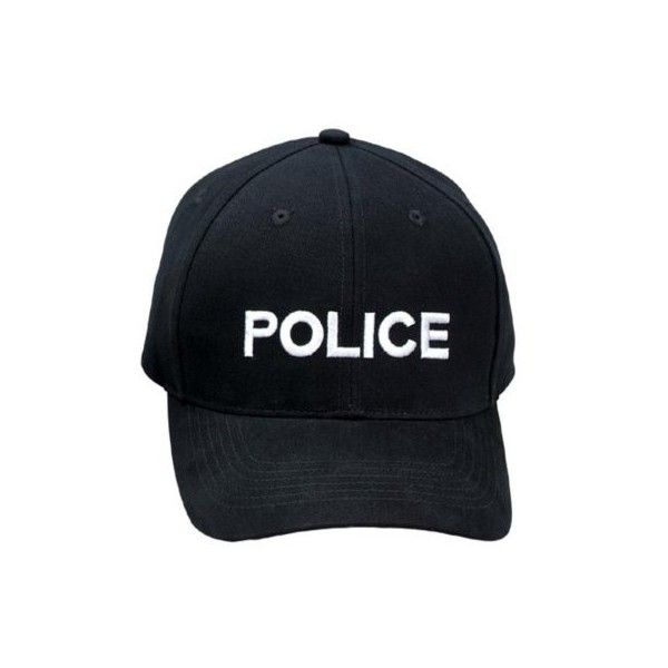Police Baseball Cap ($11) ❤ liked on Polyvore featuring accessories, hats, ball cap, baseball cap, baseball hats, ball cap hats and baseball cap hats