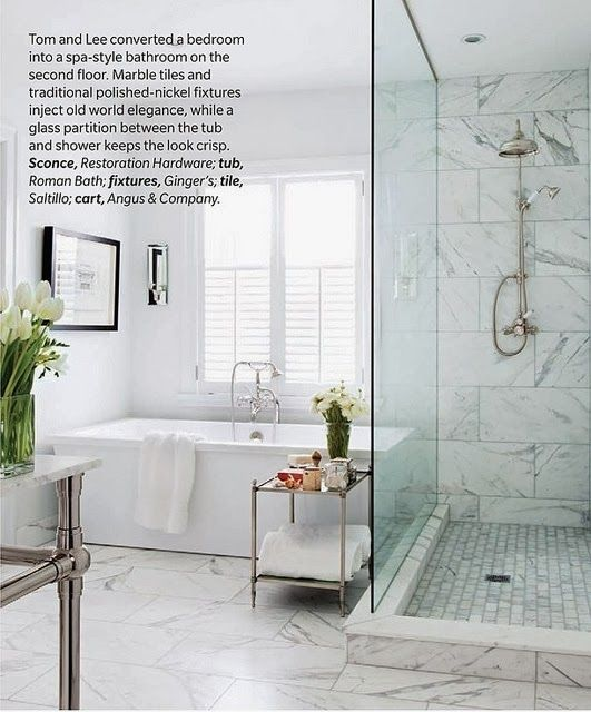 South Shore Decorating Blog: 50 Favorites For Friday (#116) - like the contrasting floor and wall in this shower.