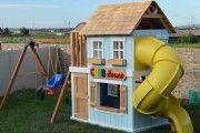 Фото 4 Детская площадка на даче своими руками (56 фото): безопасно, весело и полезно