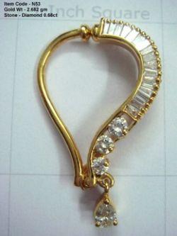 Diamond studded Nose Ring
