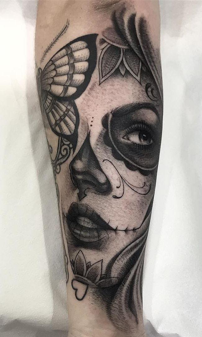 Tatuagens femininas no antebraço → 150 idéias surpreendentes para se inspirar | T …   – la catrina