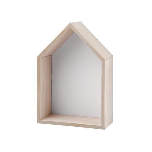 Maison déco étagère - MDF - 20 x 7.8 x H 30.8 cm - Gris