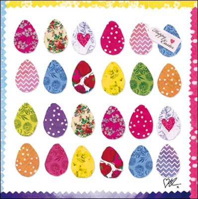 #Easter egg card by Kirstie Allsopp, finished with a glitter varnish.