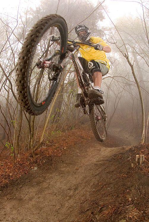 MISTY MOUNTAIN DOWNHILL: Photo by Photographer Lars Scharl. http://WhatIsTheBestMountainBike.com