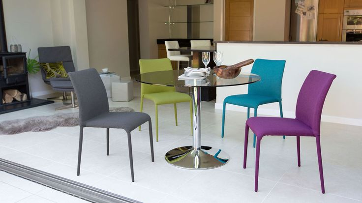 Naro Glass and Riva Stackable 4 Seater Dining Set £449.00
