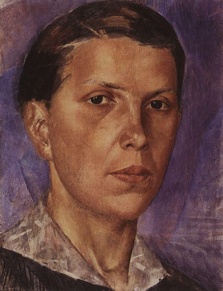 1922 PORTRAIT OF N.L. by Kuzma Petrov-Vodkin (1878~1939)