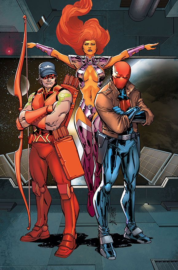 RED HOOD AND THE OUTLAWS:FUTURES END #1 ... SEPTEMBER 2014  Cover art by Giuseppe Camuncoli