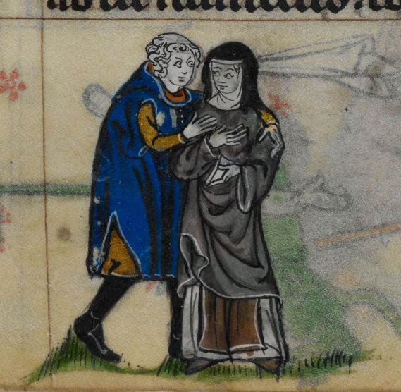 """@DamienKempf: Licentious Nun (Stowe 17, 14th c.)"""