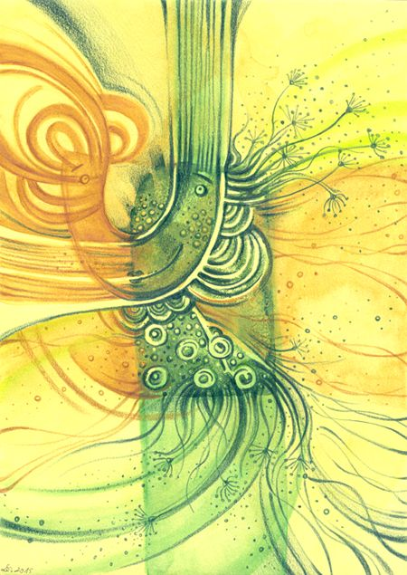 szuflada z rysunkami: Łucja rozkwita