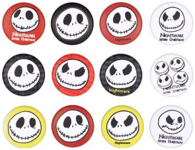 Pack de 12 Badges MISTER JACK - Faces - http://rockagogo.com
