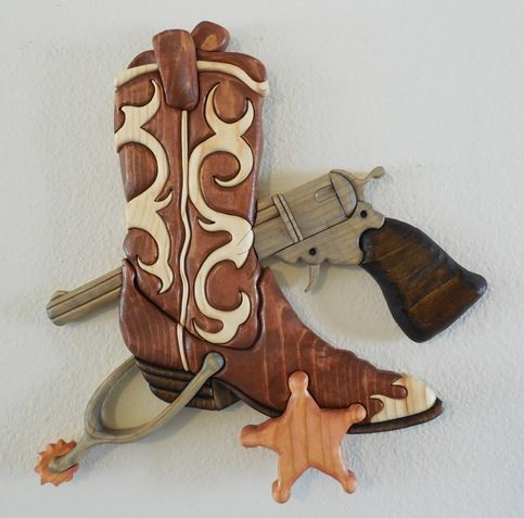 "The Boot"" 50 Piece Wood Intarsia from Eklektik Kreations by Katie ..."
