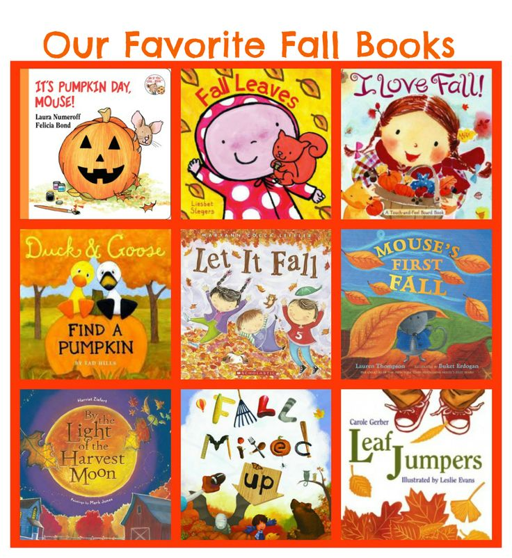 Fall Books For Toddlers & Preschoolers! Fun reading & story books for the whole family.