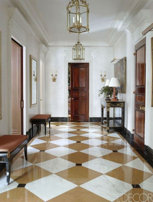 Elegant Marble Floor Entrance Hall From Elle Decor In 2019