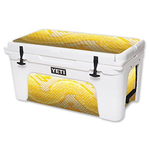 MightySkins Protective Vinyl Skin Decal for YETI Tundra 65 qt Cooler wrap cover sticker skins Albino Python >>> Read more  at the image link. (This is an Amazon affiliate link and I receive a commission for the sales and I receive a commission for the sales)