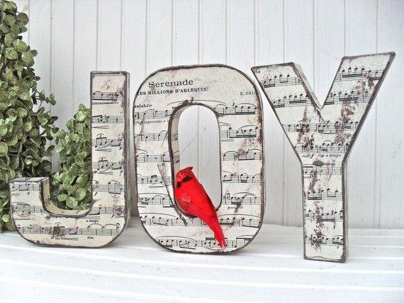 Joy Christmas Word Decoration