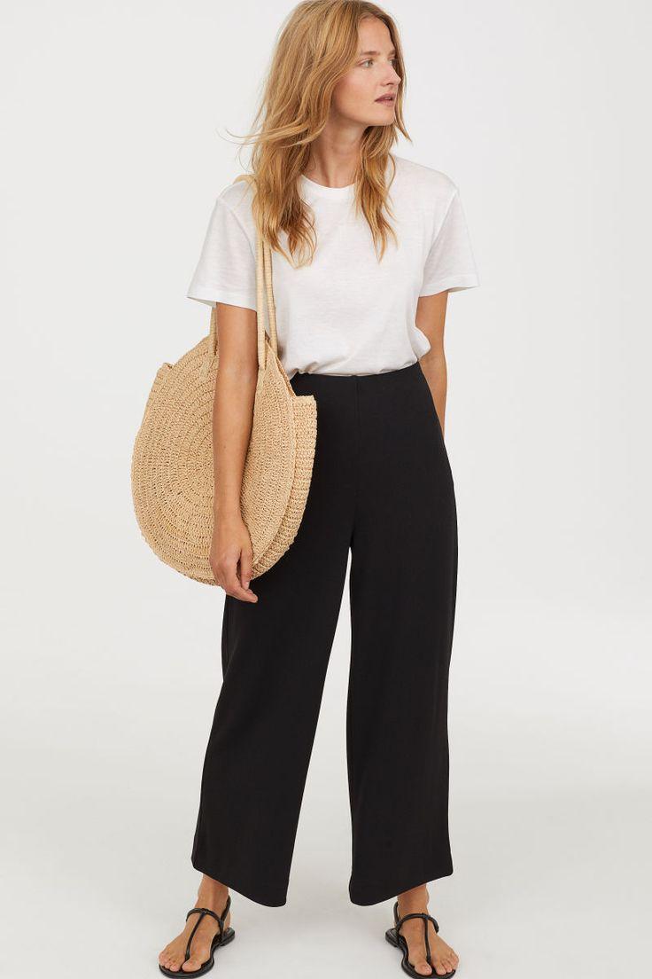 Culottes aus Jersey | Schwarz | DAMEN | H&M DE
