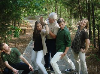 Funny family portrait poses