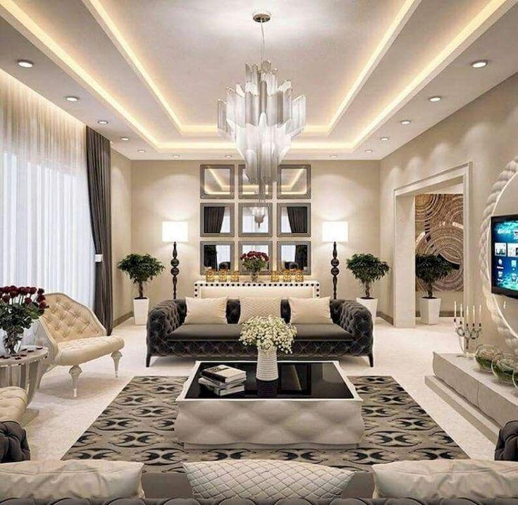 Modeles De Plafond Distinctifs Magnifiques 6 Suggestions De Superbes Plafonds Ceiling Lights Living Room Ceiling Design Modern Living Room Ceiling